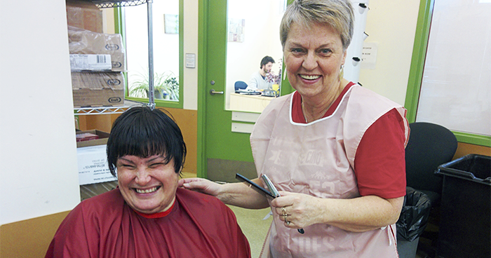Diane volunteer haircutter