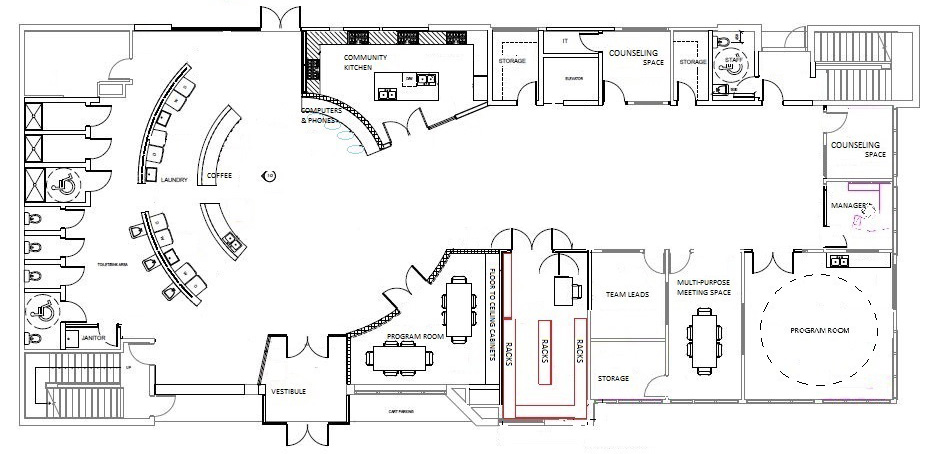 Bissell Centre West Main Floor Plans