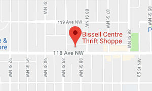 Bissell Thrift Shop Map