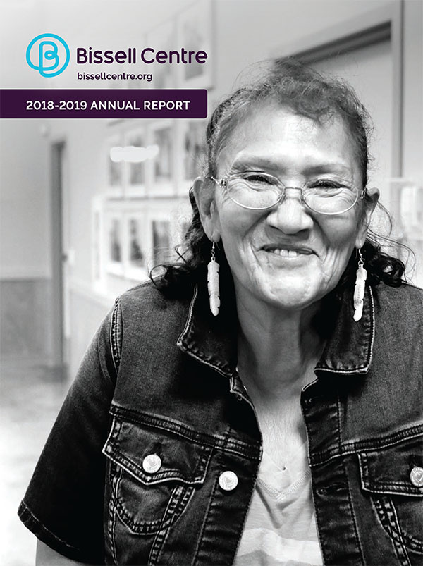2018-2019 Bissell Centre Annual Report Cover